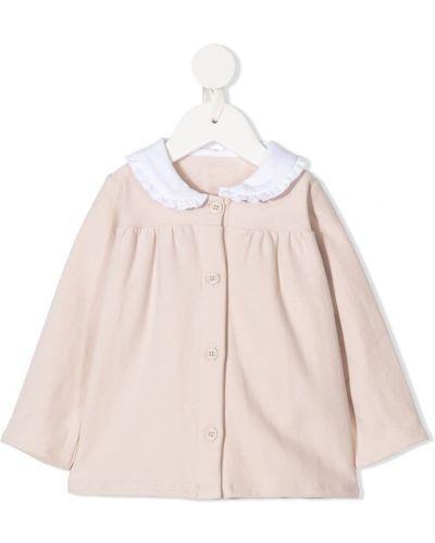 Розовая с рукавами блузка с воротником Douuod Kids