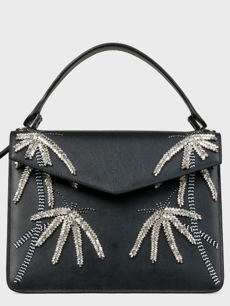 Кожаная черная кожаная сумка с карманами Les Petits Joueurs