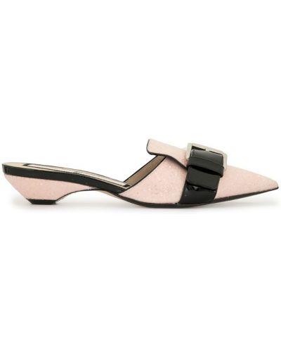 Мюли на каблуке розовый N21