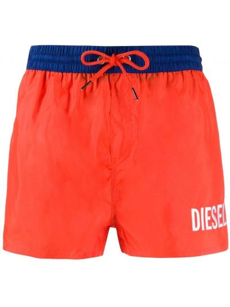 Оранжевые плавки-боксеры с карманами Diesel