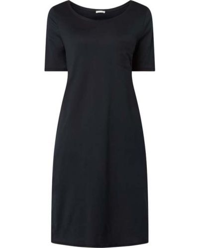 Czarna koszula nocna bawełniana rozkloszowana Hanro
