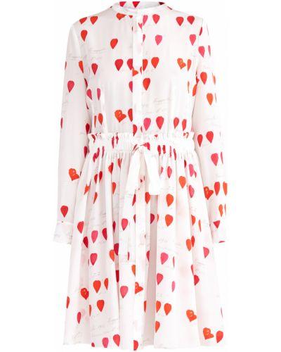 Платье на пуговицах с воротником-стойкой Alexander Mcqueen