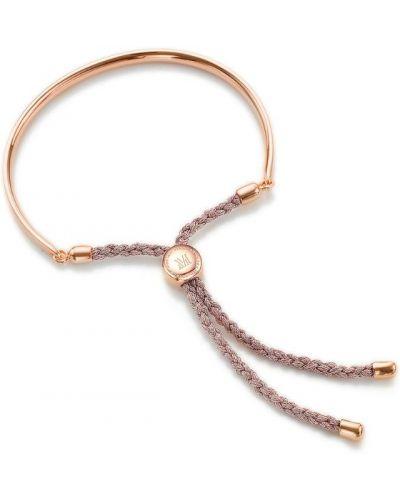 Золотой браслет из золота розовый Monica Vinader