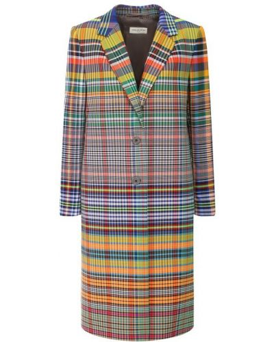 Пальто в клетку пальто Dries Van Noten
