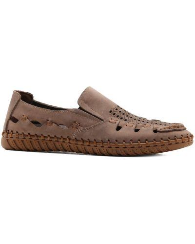 Туфли с перфорацией - коричневые Prego