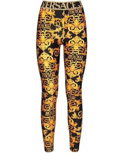 Трикотажные леггинсы стрейч Versace Jeans Couture