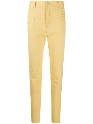 Зауженные джинсы с завышенной талией - желтые Isabel Marant