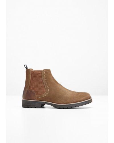 Ботинки челси коричневый Bonprix
