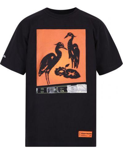 T-shirt bawełniany krótki rękaw z printem Heron Preston