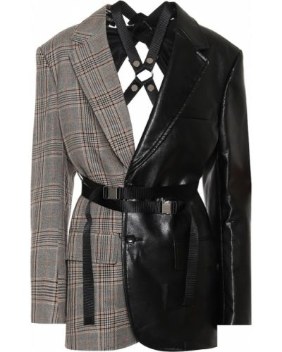 Кожаный пиджак Junya Watanabe