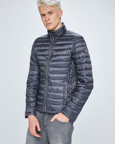 Джинсовая куртка утепленная стеганая укороченная Tom Tailor Denim