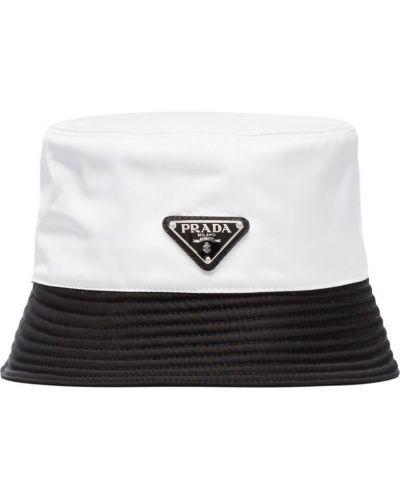 Панама с логотипом белый Prada