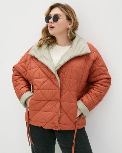 Оранжевая утепленная куртка снежная королева