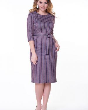 Платье с поясом в полоску платье-сарафан Valentina
