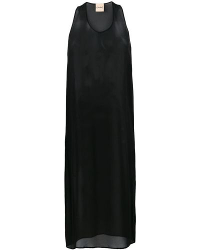 Платье без рукавов шелковое с рукавами Nude