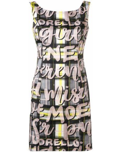 Платье с V-образным вырезом - черное Frankie Morello