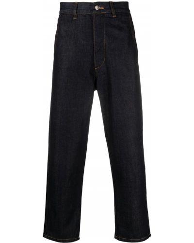 Синие прямые укороченные джинсы с карманами SociÉtÉ Anonyme
