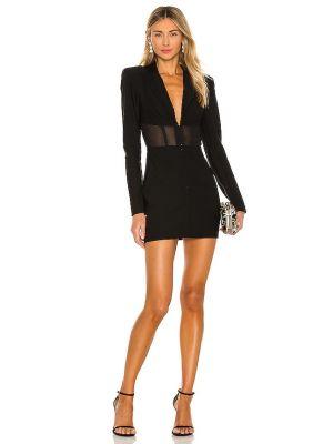 Черное платье стрейч из крепа Michael Costello