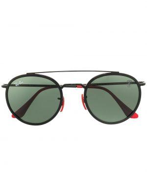 Черные солнцезащитные очки круглые металлические Ray-ban