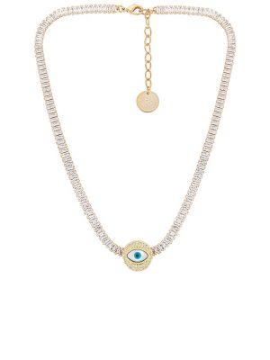 Złoty łańcuszek pozłacany z kryształkami Anton Heunis