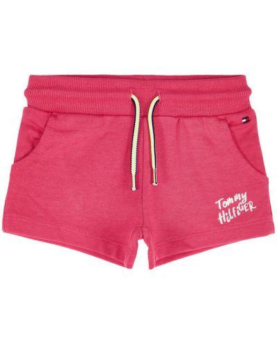 Spodenki sportowe - różowe Tommy Hilfiger