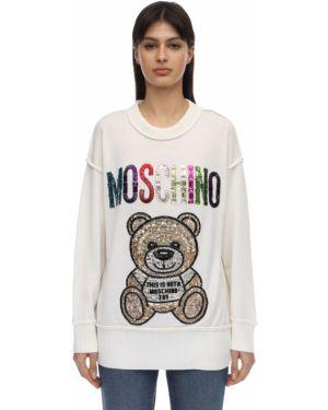 Рубашка оверсайз с воротником-стойкой Moschino