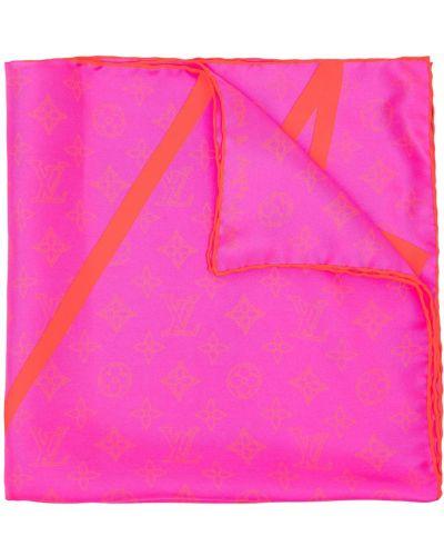 Różowa poszetka Louis Vuitton