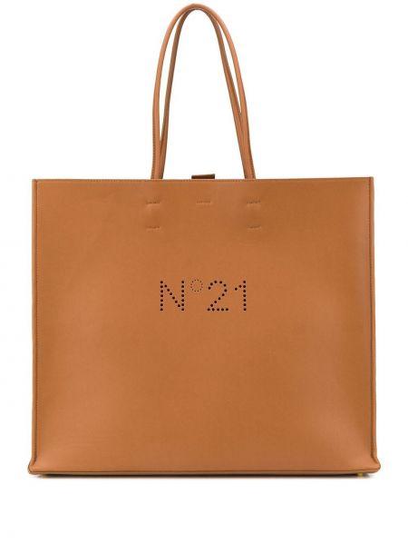 Сумка шоппер с ручками коричневый N21