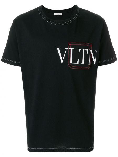 Koszula krótkie z krótkim rękawem z logo prosto Valentino