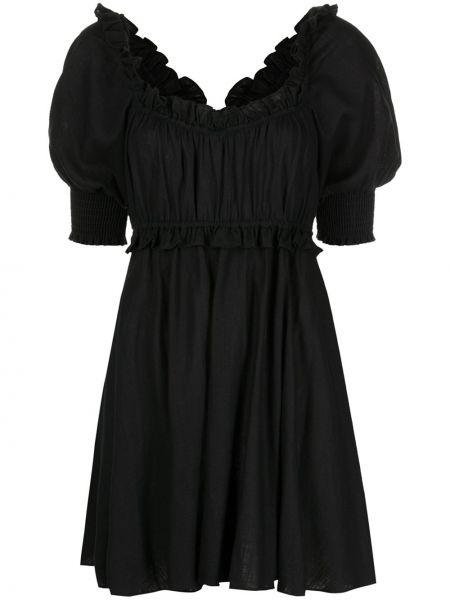 Платье мини с открытой спиной - черное Misa Los Angeles