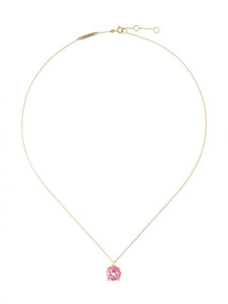 Różowy złoty naszyjnik z diamentem Delfina Delettrez