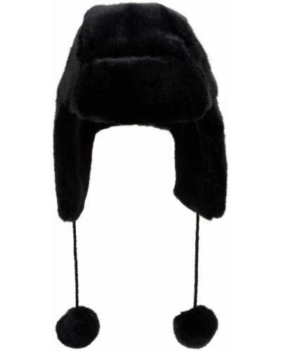 Флисовая шапка - черная Bomboogie