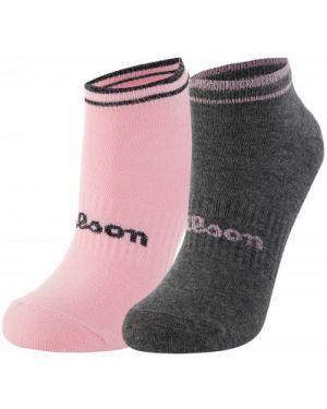 Серые спортивные компрессионные носки с люрексом Wilson