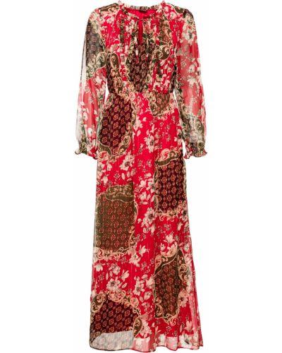 Летнее платье макси красный Bonprix