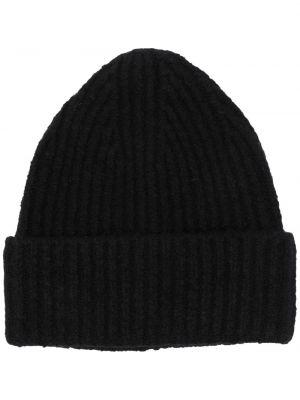 Prążkowany czarny czapka beanie wełniany Acne Studios