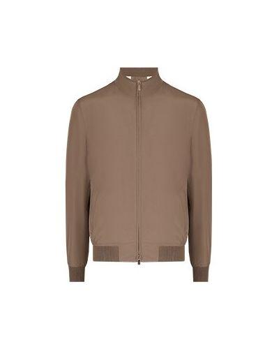 Хлопковая коричневая куртка Enrico Mandelli