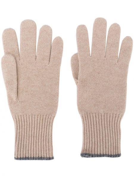 Rękawiczki beżowy kaszmir Brunello Cucinelli