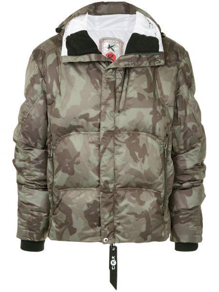 С рукавами серая куртка с капюшоном на молнии с карманами Kru