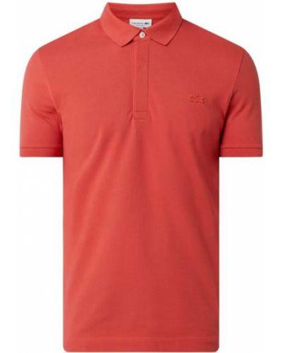 Różowy t-shirt bawełniany Lacoste