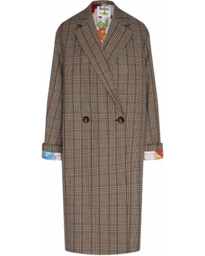 Пальто серое в клетку Stella Mccartney