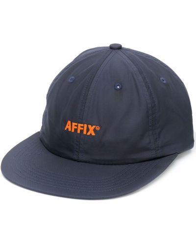 Niebieska czapka z haftem bawełniana Affix