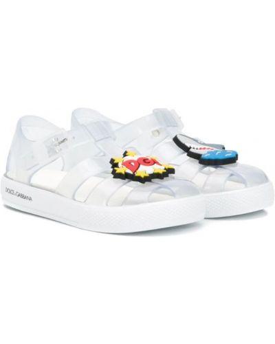 Сандалии белые плоский Dolce & Gabbana Kids