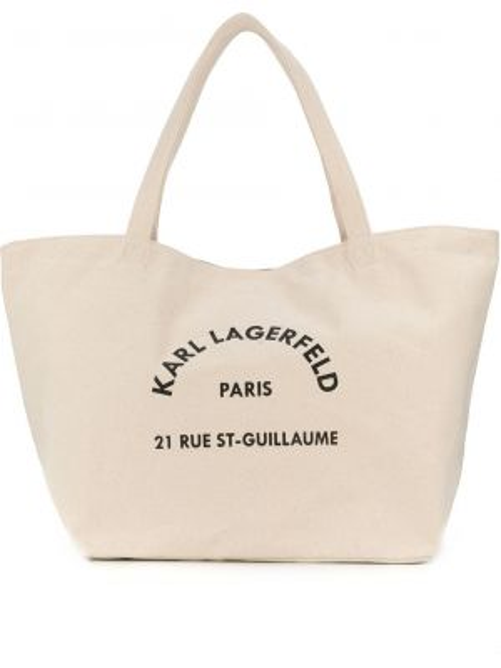 Ватная хлопковая светло-розовая сумка-тоут с подкладкой Karl Lagerfeld