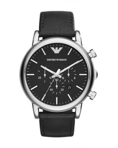 Czarny zegarek Emporio Armani