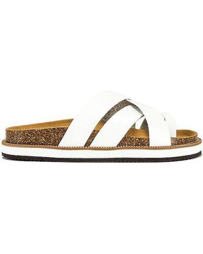 Białe sandały skorzane Free People
