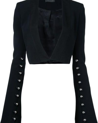 Черный пиджак David Koma