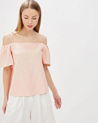 Блузка с открытыми плечами розовая турецкий Adl