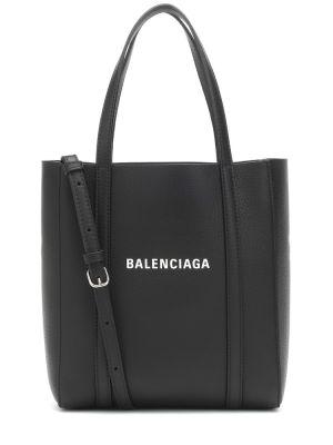 Кожаная сумка - черная Balenciaga