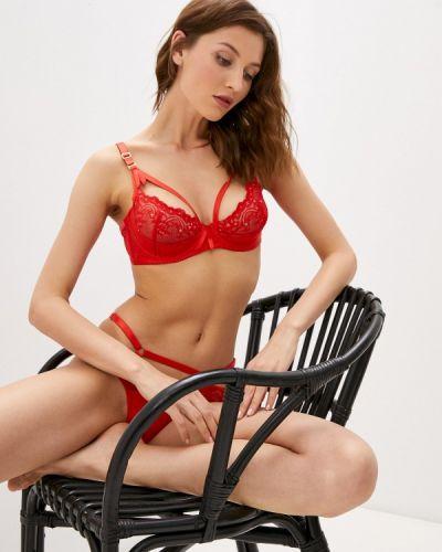 Красный бюстгальтер из плотной ткани Dita Von Teese