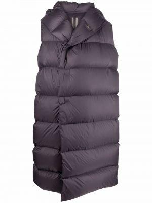 Płaszcz puchowy z kapturem - fioletowy Rick Owens